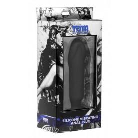 Анальный вибратор-фаллос Silicone Vibrating Anal Plug - 15,2 см.