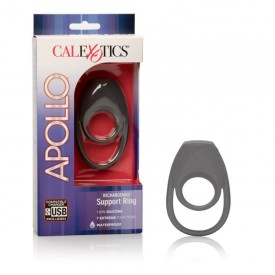 Двойное эрекционное кольцо с вибрацией Apollo Rechageable Support Ring