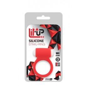 Красное эрекционное виброкольцо LIT-UP SILICONE STIMU RING 3 RED