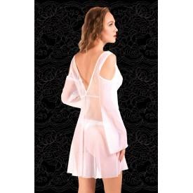 Оригинальный халатик из сетки с открытыми плечами