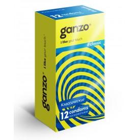 Классические презервативы с обильной смазкой Ganzo Classic - 12 шт.
